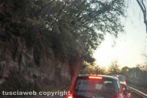 Viterbo - Il tratto di strada a Ponte dell'Elce
