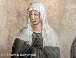 L'immagine di Santa Rosa nella chiesa museo di San Francesco a Montefalco