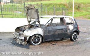 Montefiascone - Auto in fiamme