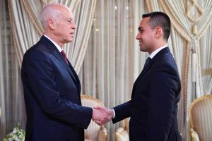 Tunisi - Il ministro degli Esteri Luigi Di Maio incontra il presidente tunisino Kais Said