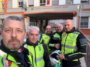 Terni - Vigili del fuoco in moto portano medicinali a Viterbo