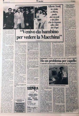 L'intervista ad Alberto Sordi
