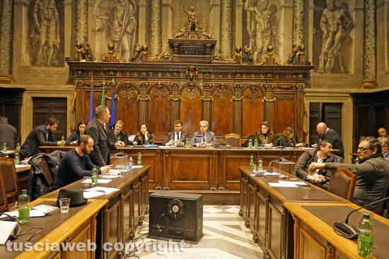 Viterbo - La seduta del consiglio comunale
