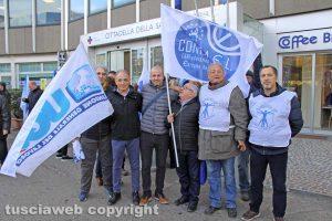 Viterbo - La manifestazione dei sindacati autonomi