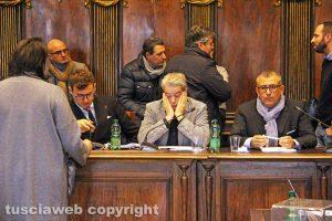 Viterbo - Consiglio comunale - I banchi della giunta