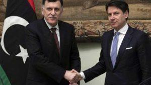 Il premier Conte e il leader libico Serraj