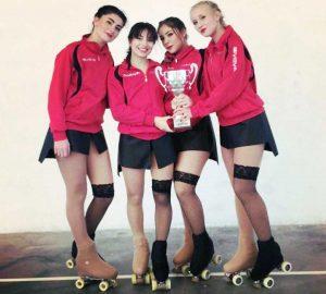 Sport - Pattinaggio - Asd Libertas Pilastro - Il quartetto Fifth armony