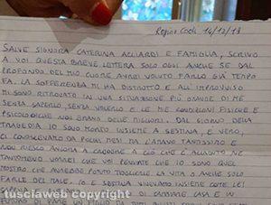 Giallo di Ronciglione - La lettera di Andrea Landolfi alla mamma di Sestina Arcuri