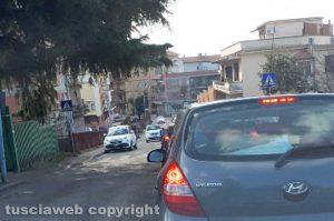 Viterbo - Il semaforo di via Santa Maria in Gradi