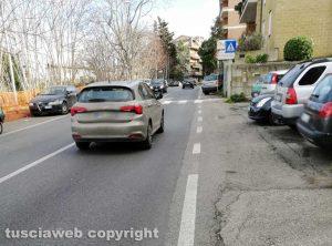 Rifacimento del marciapiede in via Belluno a Viterbo