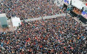Bologna - Il movimento delle Sardine radunato a Bologna