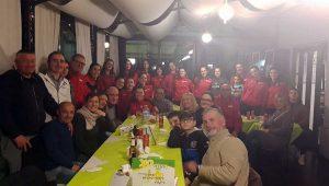 Le ragazze della 1a Divisione dello Sporting Vt a cena