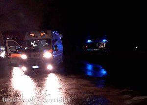 Viterbo - Incidente sulla Cassia Nord - L'intervento di 118 e polizia locale