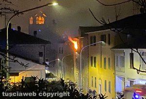 Incendio in un appartamento a Orte