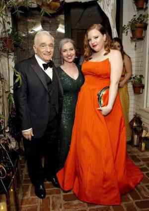 Francesca Scorzese, col padre Martin, indossa Ariel alla notte degli Oscar