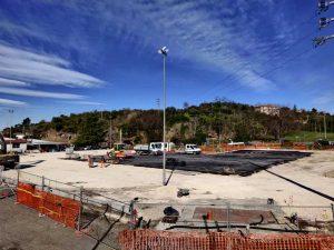 Viterbo - I lavori in corso a Valle Faul