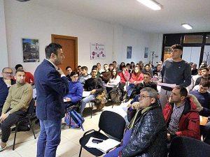 Viterbo - Andrea Sorrentino durante la riunione Aia
