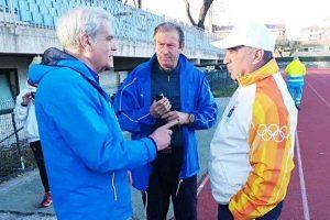 Sport - Atletica leggera _ Misuraca e Burratti col sindaco Arena