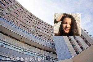 Viterbo - L'ospedale di Belcolle - Nel riquadro Aurora Grazini