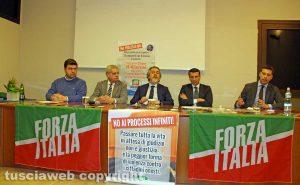Viterbo - La conferenza di Forza Italia contro la riforma Bonafede