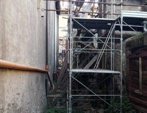 Viterbo - Lavori tra via Cardinal La Fontaine e via del Gonfalone