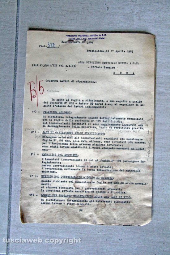 Ronciglione - Chemical city - Il documento del 1963
