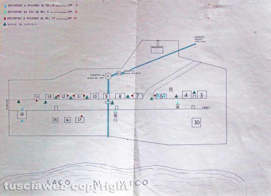 Ronciglione - Chemical city - La mappa della Chemical city