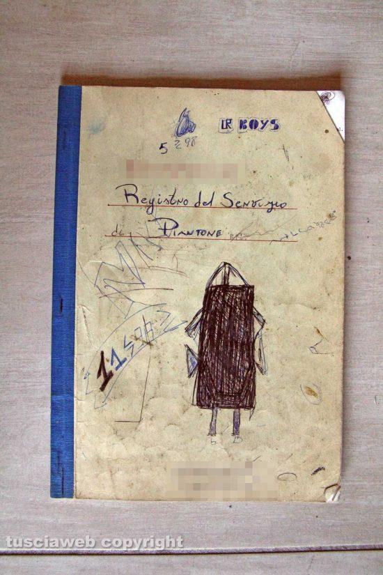 Ronciglione - Chemical city - Il registro del servizio di piantone