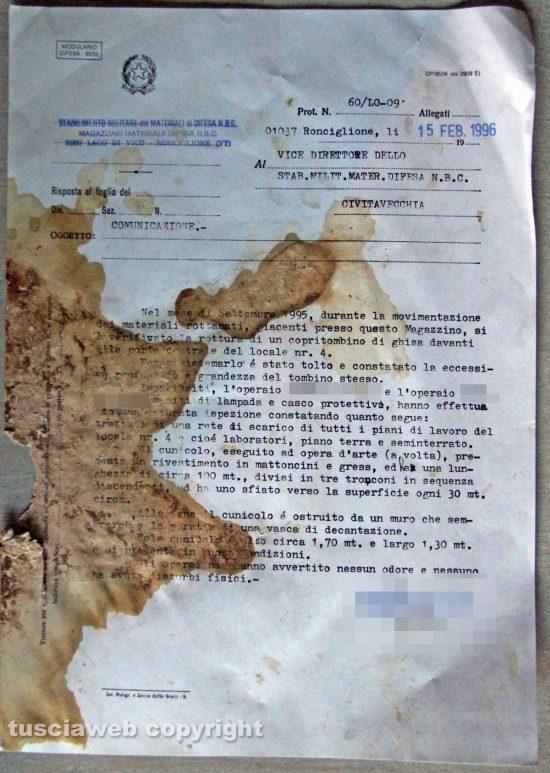 Ronciglione - Chemical city - Il documento del 15 febbraio 1996
