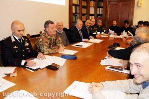 Viterbo - Una riunione del comitato ordine e sicurezza della prefettura