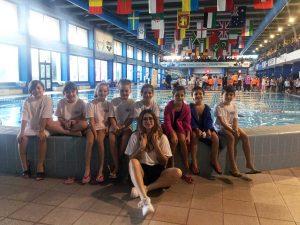 Roma - La squadra categoria 'giovanissimi' nella piscina Forum di Roma