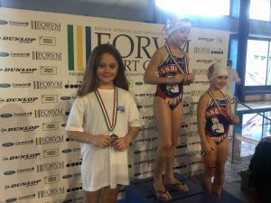 Roma - L'atleta Crystal Funes sul podio