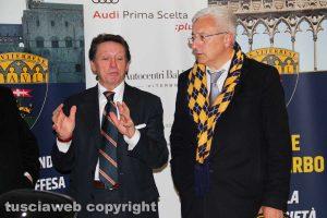 Sport - Calcio - Viterbese - Autocentri Balduina è il nuovo sponsor - Romano e Galeotti