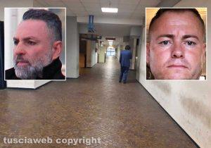 Mafia viterbese - Il tribunale di Roma - Nei riquadri Giuseppe Trovato e Ismail Rebeshi
