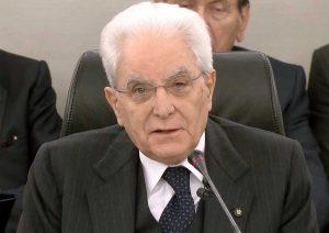 Sergio Mattarella alla cerimonia per i 40 anni dalla morte di Vittorio Bachelet