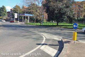 Viterbo - L'incrocio in zona Carmine