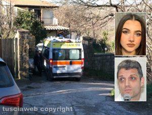 Montefiascone - Sedicenne morta in casa - Nei riquadri: Aurora Grazini e Daniele Angelini