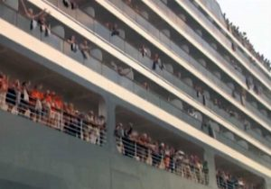 Sihanoukville - Passeggeri sulla nave Westerdam
