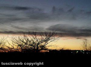 Parco del bullicame al tramonto