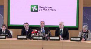 Milano - Conferenza stampa sul coronavirus