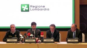 Milano - Conferenza stampa in regione Lombardia sull'emergenza coronavirus