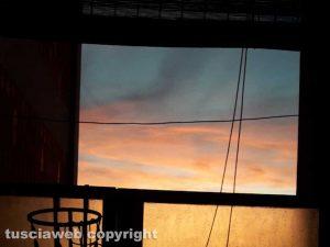 Viterbo - Tramonto dal balcone