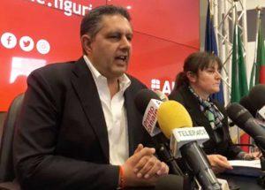 Genova - Giovanni Toti in conferenza stampa per aggiornare sui casi di coronavirus in Liguria