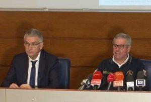 Roma - Da sinistra: il presidente dell'Istituto superiore di sanità Silvio Brusaferro e il capo della protezione civile Angelo Borrelli in conferenza stampa