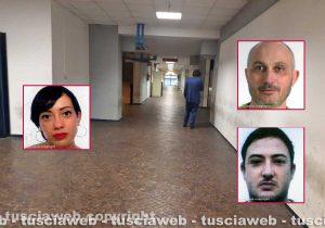 Il tribunale di Roma - Nei riquadri i tre viterbesi Martina Guadagno, Luigi Forieri e Martina Guadagno