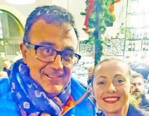 Giampaolo Arieti con Giorgia Meloni