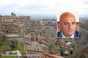 Caprarola - Nel riquadro il sindaco Eugenio Stelliferi