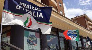 Viterbo - La sede di Fratelli d'Italia