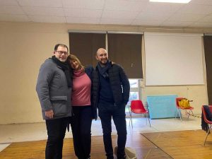Silvia Somigli con due docenti