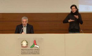 Coronavirus - La conferenza stampa del commissario della protezione civile Domenico Arcuri